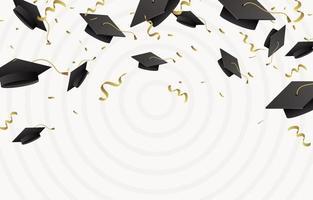 Graduation festivity background vector