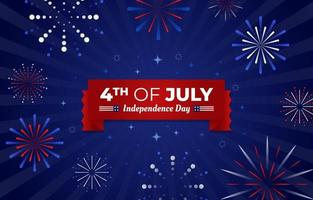 4th of July fireworks vector
