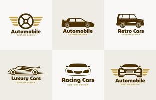 colección de logotipos de automóviles o automóviles vector