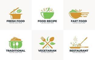 Food logo collection vector