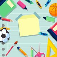 Back to School stationary supply background vector