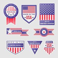 Made In United States of America Label Logos vector