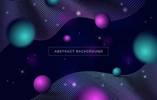 Modern Abstract Space Landscape Backrgound vector