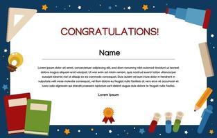 plantilla de certificado escolar vector