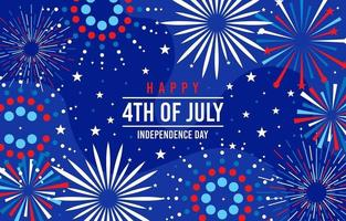 Firework exploding celebrate 4th of july vector