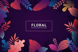 Floral background with gradient colors vector