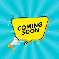 Coming soon announcement vector illustration