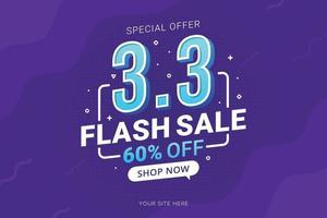 Flash sale banner shopping day background for business retail promotion vector