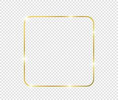 Golden luxury vintage realistic gold shiny glowing frame vector
