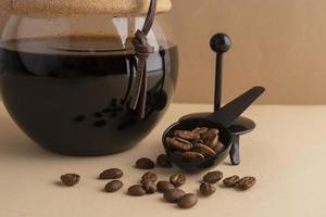 Coffee maker on table photo