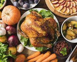 thanksgiving meal concept with turkey. High quality and resolution beautiful photo concept