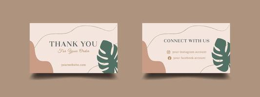 Thank you for your order card design template vector