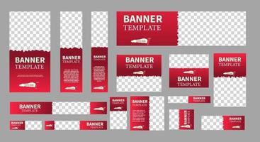 set of creative web banners of standard size with a place for photos vector