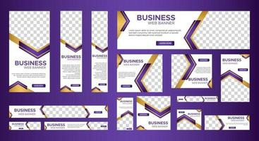 Set of elegant business web banners template vector
