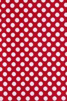 Red polka dot texture photo