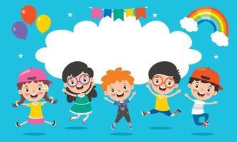 Little Children Having Fun Together vector