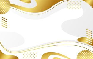 White and golden abstract background vector