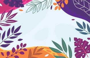 Flat summer floral background vector