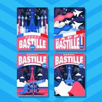 The Night of Bastille Card vector