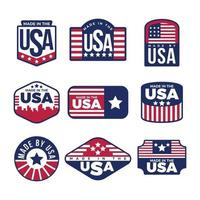 productos creados por el país de origen EE. UU. vector