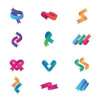 Beautifully Colored Ribbons to be Used by Business vector