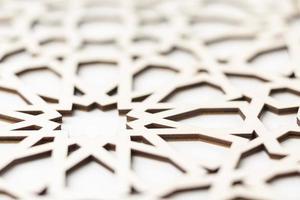 Geometric white pattern photo