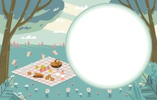 Picnic In The Forest Background vector