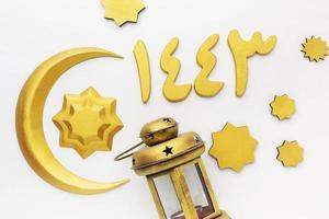 Gold Islamic New Year decorations photo