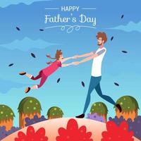Father's Day Flat Illustration Design vector