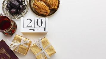 Islamic New Year food and gifts photo