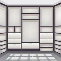 Empty Storage Room Realistic Vector Illustration