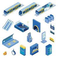 Isometric Underground Set Vector Illustration