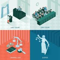 Isometric Law Design Concept Vector Illustration