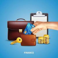 Business Realistic Concept Vector Illustration