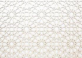 White geometric pattern photo