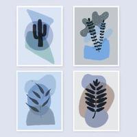 Minimal wall art designs collection 1204 vector
