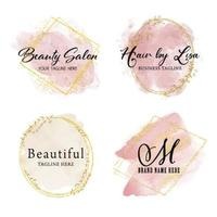 feminine business badges 1304 vector