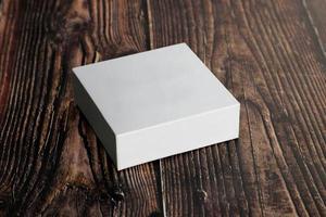 Blank white box photo