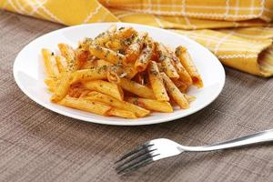 Penne pasta meal photo