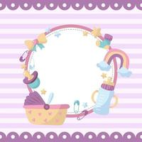 Kids Background Template vector
