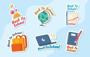 Back to School Sticker Collection vector