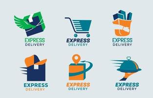 Set of Delivery Service Logo vector