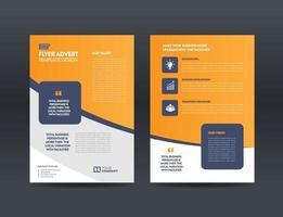 Corporate Business Flyer Design or Handout and leaflet design or Marketing sheet Brochure Design vector