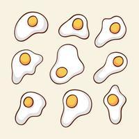 Breakfast egg set vector