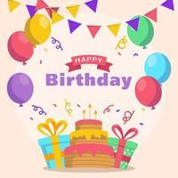 feliz cumpleaños fondo vector