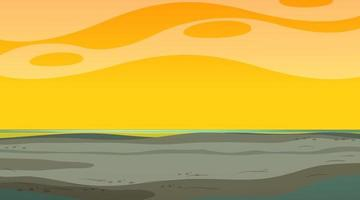 Blank sky at sunset time scene with blank flood landscape vector