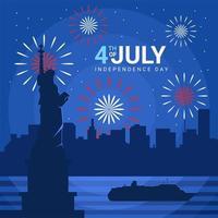 Idependence Day Celebration Background vector