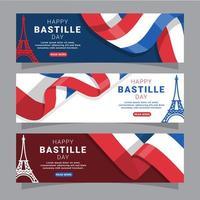Bastille Day Banner Concept vector