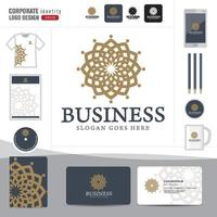 Abstract Logotype corporate identity template vector