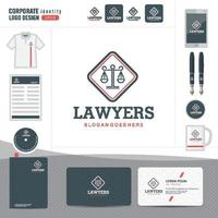 Law logo, law firm, law office, law logotype corporate identity template vector